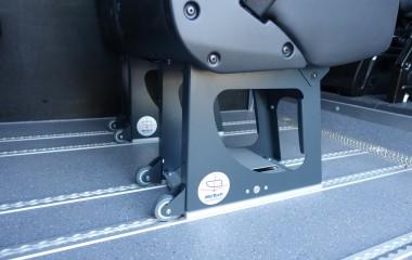 Undgå tunge løft med Martech transporthjul, når sædet skal ud af bilen.