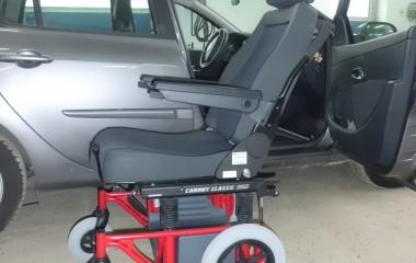 BEV seat overført til Carony Classic manuel kørestolsunderstel.